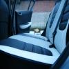 Авточехлы из черно-белой экокожи для Hyndai I20 №19