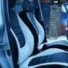Авточехлы из черно-белой экокожи для Hyndai I20 №20