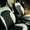 Чехлы для Hyundai IX35 из черной и белой  экокожи №2