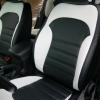 Чехлы для Hyundai IX35 из черной и белой  экокожи №3