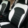 Чехлы для Hyundai IX35 из черной и белой  экокожи №4