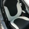 Черно-белые авточехлы из экокожи для Hyundai Solaris №2