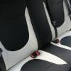 Черно-белые авточехлы из экокожи для Hyundai Solaris №5