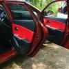 Красно-черный салон Hyundai Solaris-Kia Rio. Перетяжка экокожей prochehli.ru .