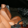 Коричневые авточехлы из экокожи для Hyundai Sonata 5 №6