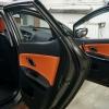 Вставки в карты дверей KIA Ceed 2 JD из черной и оранжевой экокожи №7