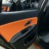 Вставки в карты дверей KIA Ceed 2 JD из черной и оранжевой экокожи №9