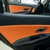 Вставки в карты дверей KIA Ceed 2 JD из черной и оранжевой экокожи №10
