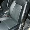 Черные авточехлы с синей строчкой Kia Ceed Pro №9
