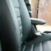 Авточехлы для Kia Cerato 3 из черной экокожи №8