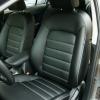 Авточехлы для Kia Cerato 3 из черной экокожи №10