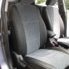 Авточехлы Kia Cerato - черная экокожа. Вставки - серый флок на флоке