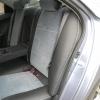 Авточехлы Kia Cerato - черная экокожа. Вставки - серый флок на флоке №3