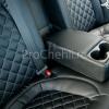 Чехлы для Kia Optima 3 из черной  экокожи с ромбом №8