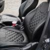 Чехлы для Kia Rio из черной экокожи с ромбом №11