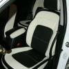 Черно-белые авточехлы для Kia Sportage