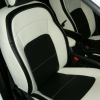 Черно-белые авточехлы для Kia Sportage №1