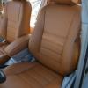 Коричневые чехлы из экокожи для Toyota Avensis