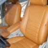 Коричневые чехлы из экокожи для Toyota Avensis №1