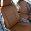 Коричневые чехлы из экокожи для Toyota Avensis №2