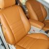 Коричневые чехлы из экокожи для Toyota Avensis №3
