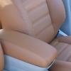 Коричневые чехлы из экокожи для Toyota Avensis №4