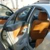 Коричневые чехлы из экокожи для Toyota Avensis №8