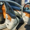 Коричневые чехлы из экокожи для Toyota Avensis №9