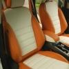 Чехлы для Ford Kuga 2 рестайлинг из красной и белой экокожи №2