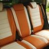 Чехлы для Ford Kuga 2 рестайлинг из красной и белой экокожи №4