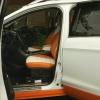 Чехлы для Ford Kuga 2 рестайлинг из красной и белой экокожи №7