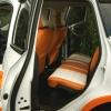 Чехлы для Ford Kuga 2 рестайлинг из красной и белой экокожи №8