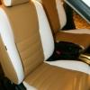 Чехлы из сочетания белой и бежевой экокожи для Mitsubishi Lancer 10 фото 3