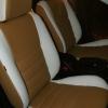 Чехлы из сочетания белой и бежевой экокожи для Mitsubishi Lancer 10 фото 4