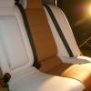 Чехлы из сочетания белой и бежевой экокожи для Mitsubishi Lancer 10 фото 5