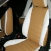 Чехлы из сочетания белой и бежевой экокожи для Mitsubishi Lancer 10 фото 6