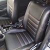 Чехлы для Mitsubishi Lanser 9 из черной экокожи №1