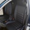 Чехлы для Mitsubishi Lanser 9 из черной экокожи №2