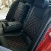 Чехлы для Mitsubishi Lancer X из экокожи  отстрочкой двойной ромб №6