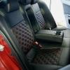 Чехлы для Mitsubishi Lancer X из экокожи  отстрочкой двойной ромб №7