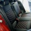 Чехлы для Mitsubishi Lancer X из экокожи  отстрочкой двойной ромб №8