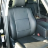Чехлы из черной экокожи для Toyota Land Cruiser Prado