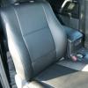 Чехлы из черной экокожи для Toyota Land Cruiser Prado №1