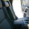 Чехлы из черной экокожи для Toyota Land Cruiser Prado №13