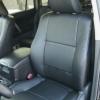 Чехлы из черной экокожи для Toyota Land Cruiser Prado №17
