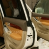 Чехлы для Land Cruiser Prado 120 из бежевой экокожи №16