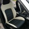 """Черно-белые авточехлы для Subaru Legacy с сиденьями """"Recaro"""""""