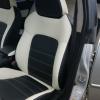 """Черно-белые авточехлы для Subaru Legacy с сиденьями """"Recaro"""" №2"""