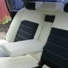 """Черно-белые авточехлы для Subaru Legacy с сиденьями """"Recaro"""" №7"""