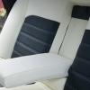 """Черно-белые авточехлы для Subaru Legacy с сиденьями """"Recaro"""" №8"""